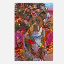 pitbull christmas card Postcards (Package of 8)