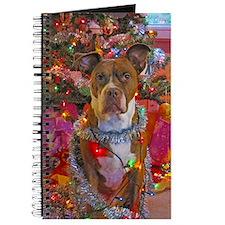 pitbull christmas card Journal