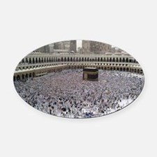 Last Day of Hajj Oval Car Magnet