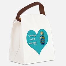 LoveEggs Canvas Lunch Bag