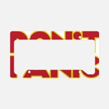 Dont Panic License Plate Holder
