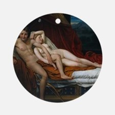 Cupid and Psyche Round Ornament