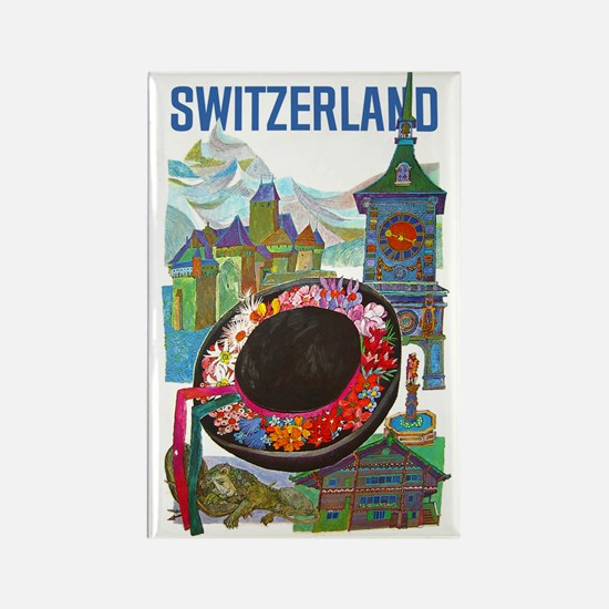 Vintage Switzerland Travel Magnets