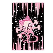 Pink Neon Skull IP3 Postcards (Package of 8)
