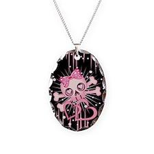 Pink Neon Skull IP3 Necklace