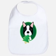 Boston Terrier Christmas Bib