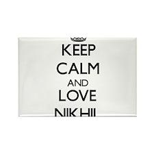 Keep Calm and Love Nikhil Magnets