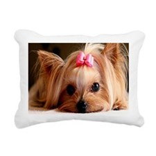 Yorkie post Rectangular Canvas Pillow