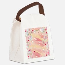 Japanese pink cherry blossoms Canvas Lunch Bag