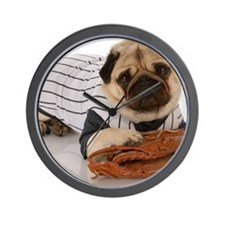 Fotolia Baseball pug Wall Clock