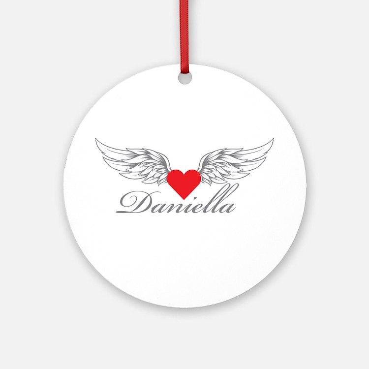 Angel Wings Daniella Ornament (Round)