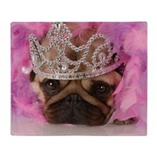 Fotolia Queen pug jpeg Throw Blanket