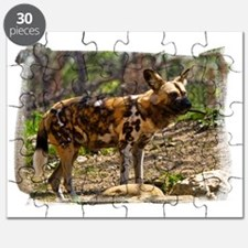 (16) African Wild Dog  1932 Puzzle
