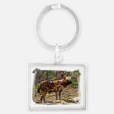 (16) African Wild Dog  1932 Landscape Keychain