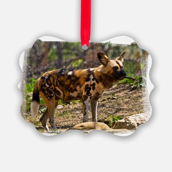 (16) African Wild Dog  1932 Ornament