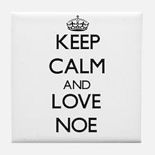 Keep Calm and Love Noe Tile Coaster