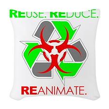 reanimate.white Woven Throw Pillow