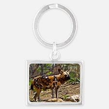 (10) African Wild Dog  1932 Landscape Keychain