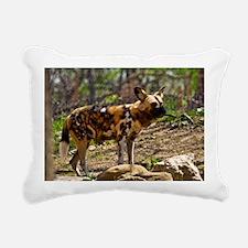 (10) African Wild Dog  1 Rectangular Canvas Pillow