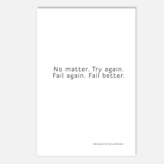 worstward book Postcards (Package of 8)