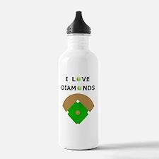 Softball I Love Diamon Water Bottle