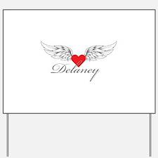 Angel Wings Delaney Yard Sign