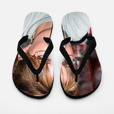 Sarah Palin in Kuwait tshirt Flip Flops