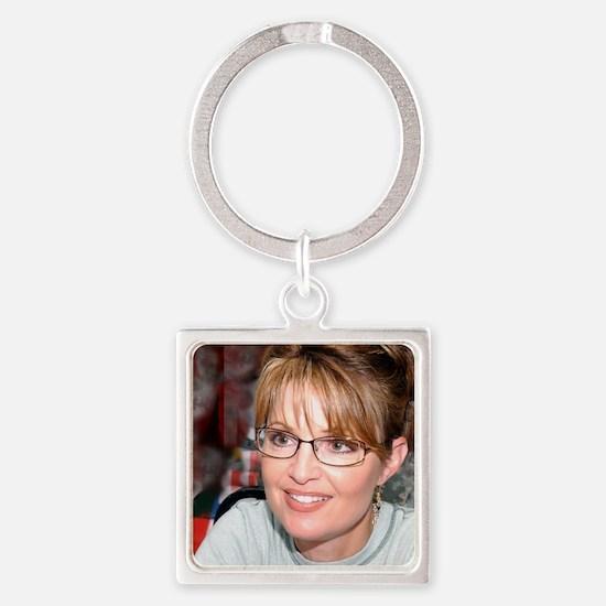 Sarah Palin in Kuwait tshirt Square Keychain