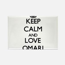 Keep Calm and Love Omari Magnets