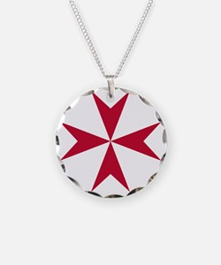 Cross of Malta - Red Necklace