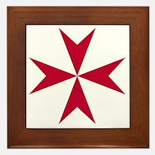 Cross of Malta - Red Framed Tile