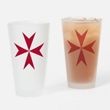 Cross of Malta - Red Drinking Glass