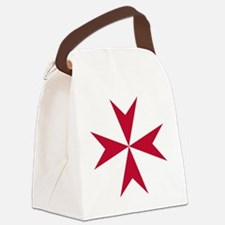 Cross of Malta - Red Canvas Lunch Bag