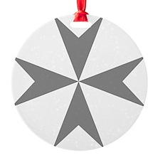 Cross of Malta - Grey Ornament