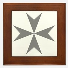 Cross of Malta - Grey Framed Tile