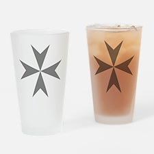Cross of Malta - Grey Drinking Glass