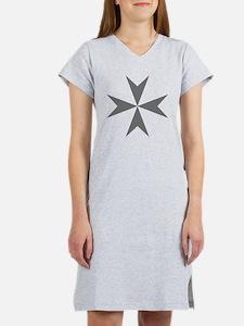 Cross of Malta - Grey Women's Nightshirt