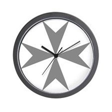 Cross of Malta - Grey Wall Clock