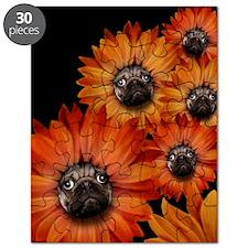 flower_pug+8x10 Puzzle