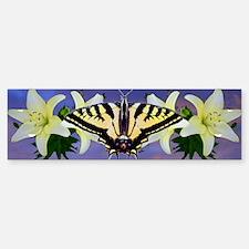 Butterfly floral Bumper Bumper Sticker