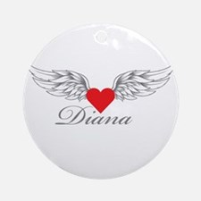 Angel Wings Diana Ornament (Round)