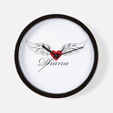 Angel Wings Diana Wall Clock