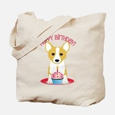 Happy Birthday Corgi Tote Bag