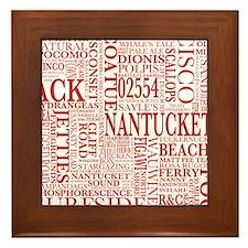 NANTUCKET PILLOW Framed Tile