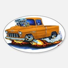 1955 Chevy Pickup Orange Truck Decal