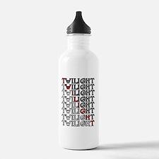 twilight cartoon text  Water Bottle