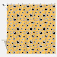 Orange Cheetah Print Shower Curtain