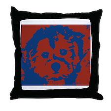 porkie_border Throw Pillow