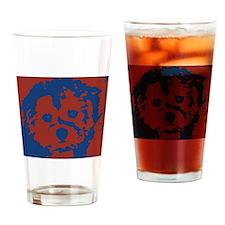 porkie_border Drinking Glass