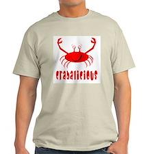 Crabalicious Ash Grey T-Shirt